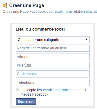 facebook professionnel